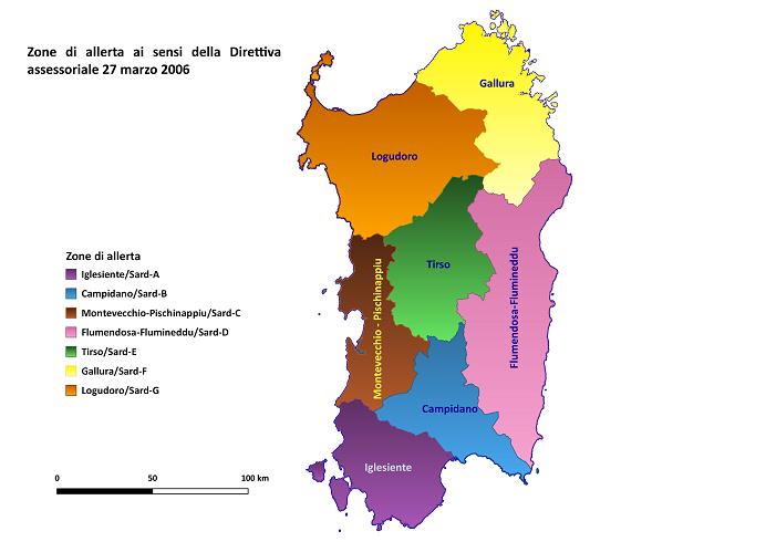 Cartina Sardegna Regioni.Sardegnaprotezionecivile Centro Funzionale Decentrato Cfd Documenti Prodotti